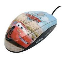 Mouse Óptico Usb Disney Carros Desenho - Clone - Três Botões