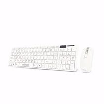 Kit Teclado E Mouse Wireless S/ Fio C/ Mini Receptor Usb
