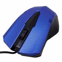 Kit C/ 10 Mouse Ótico Com Formato Anatômico Com Fio Via Usb