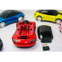 Mouse Optico Sem Fio Usb Receptor Carro Porsche Cores-amarel