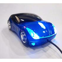 Mouse Optico Em Formato De Carrinho Preto