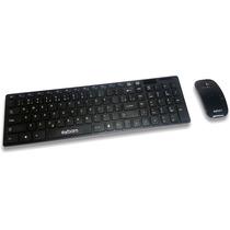 Kit Teclado E Mouse Wireless S/ Fio C/ Mini Receptor 2.4g