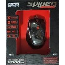 Mouse Óptico Gamer Usb Spider Om701 Preto Fortrek 2000 Dpi