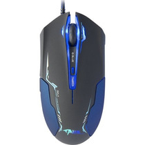 Mouse Gamer Optico Usb 3500dpi Mazer Type-l Preto/azul E-blu