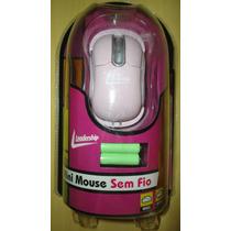 Mini Mouse Sem Fio Cor Rosa Novo Lacrado Pronta Entrega