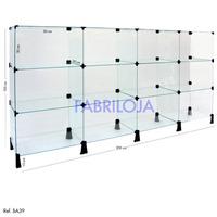 Balcão Vitrine Em Vidro 2 X 1mt (frete Grátis P/ Capital Sp)