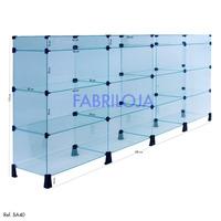 Balcão Em Vidro Com Porta Bijuterias 2,00mt X 1.10mt X 030cm