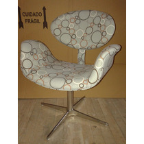 Cadeira Design Decorativa Tulipa, Base Aluminio