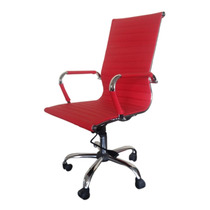 Cadeira Escritório Presidente Vermelha Base Gás/braços/girat