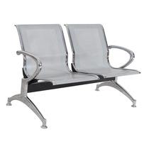 Cadeira Longarina 2 Lugares Sala De Espera Aço Recepção