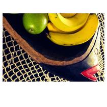 Fruteira Em Madeira Artesanal - Fruteira De Mesa