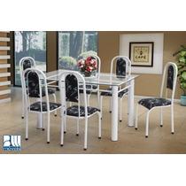 Conjunto Brasil Mesa E 6 Cadeiras Marcheli