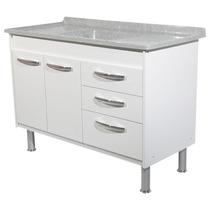 Combo 12 - Gabinete Cozinha 1,14 + Pia Inox 1,20