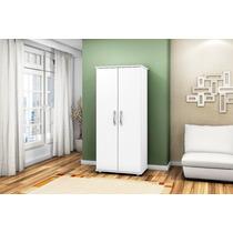 Armário Multiuso 02 Portas Lavanderia Cozinha Branco
