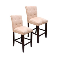 Conjunto 2 Cadeiras King Revestidas Em Tecido Suede