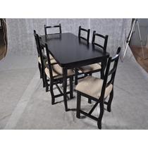 Conj Mesa E 6 Cadeiras Bruna