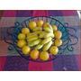 Fruteira De Aço E Madeira Tamanho G