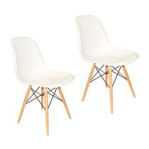 Conjunto 2 Cadeiras Pé Palito Brancas Em Abs