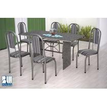 Conjunto Crisantemo Mesa E 6 Cadeiras