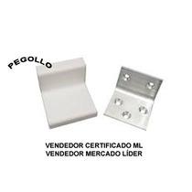Kit 2 Cantoneiras Alumínio C/capa P/ Prateleira Nicho Móveis