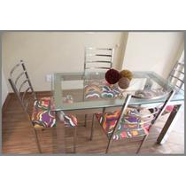 Jogo De Mesa E Cadeira - Aço Inox 304