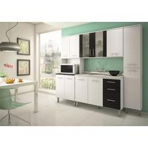 Cozinha Compacta Kali Armário Balcão Paneleiro 4 Peças