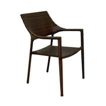 Cadeira Marrom Em Fibra Sintética Trançada