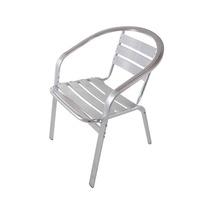 Cadeira Silver Toda Em Alumínio Com Braços