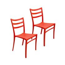 Conjunto 2 Cadeiras Hatch Vermelhas E Polipropileno