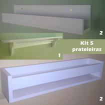 Kit 5 Prateleiras - 1 Varão - 2 Bebec/ Frente - 2 Bebe Em U
