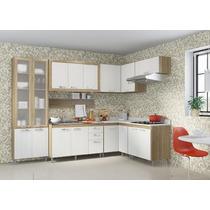 Cozinha Completa 8 Pçs Paneleiro Balcão Armário Multimóveis