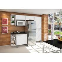 Armário De Cozinha Ebani 100% Mdf C/ Suporte P/ Micro-ondas