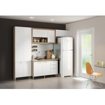 Cozinha Compacta 4 Peças Paneleiro Balcão Aérios Multimóveis