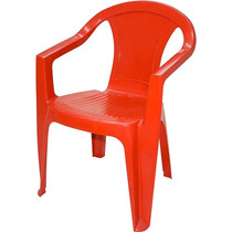 Cadeira Brahma Plastica C Braço Tramontina Bar Cozinha Praia