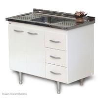 Gabinete Para Cozinha Bonatto 1,00 Mt Branco