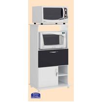 Balcão Cozinha Suporte Microondas Forno 2 Portas 4 Pés 0504