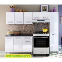 Cozinha Aço Bertolini Allegra 3 Peças Com 6 Portas Branco