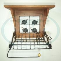Paneleiro Rústico Em Ferro E Madeira Pma50