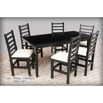 Conjunto Mesa Com 6 Cadeiras Duda 160x80