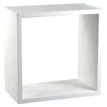 Trio De Nichos Decorativo Branco 30x30x10 100% Mdf - Mv037