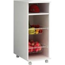 Balcão Ideal Para Apartamento Pequeno Branco Com Fruteira