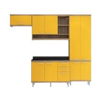 Cozinha Armário Balcão 4 Peças Argila Amarelo Multimóveis
