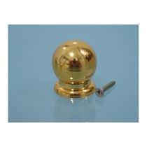 Puxador De Gaveta E Porta De Armário Bola Grande Dourado