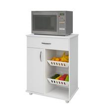 Balcão Fruteira De Cozinha Com Base Para Microondas, Branco