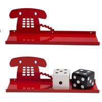 Prateleira De Ferro Para Parede Telefone Vermelho