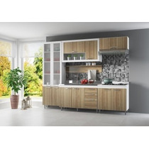 Cozinha Completa 5 Pçs Paneleiro Balcão Armário Multimóveis