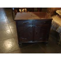Mesa Com 2 Box (bar) E 2 Gavetas - Madeira Maciça