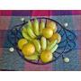 Fruteira De Aço E Madeira