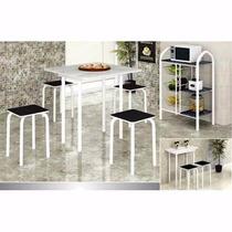 Mesa De Cozinha Dobrável C\ 4 Cadeiras || Preço Bom Colchõe