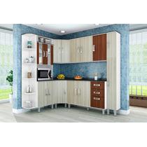 Cozinha Compacta Modulada 7 Peças Rovere Amêndoa Poliman